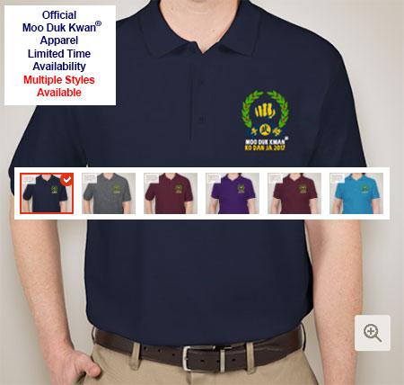 Guys & Ladies Double Pique Polo Shirts Embroidered With Moo Duk Kwan® Ko Dan Ja 2017