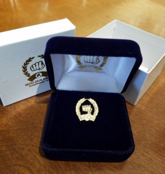 14 Karat Gold Official Moo Duk Kwan Pin
